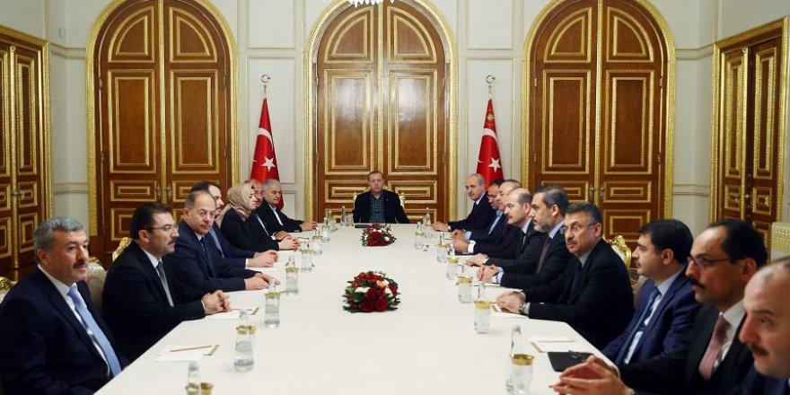 Erdoğan başkanlığında güvenlik toplantısı