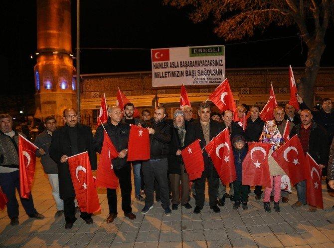 Ereğli Belediyesi şehit anısına binlerce Türk Bayrağı dağıttı