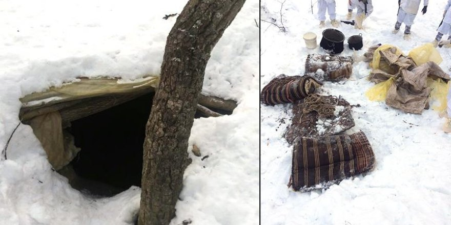 Tunceli'de PKK'nın kış tertiplenmesine darbe