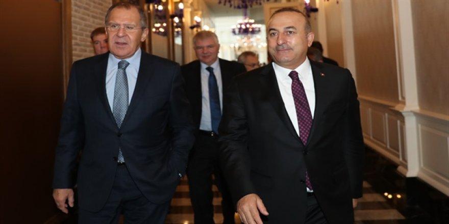 Çavuşoğlu Lavrov ile Halep'i görüştü