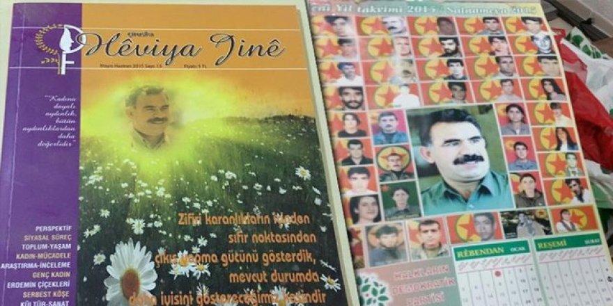 Manisa'da terörist fotoğraflarının yer aldığı HDP takvimi ele geçirildi