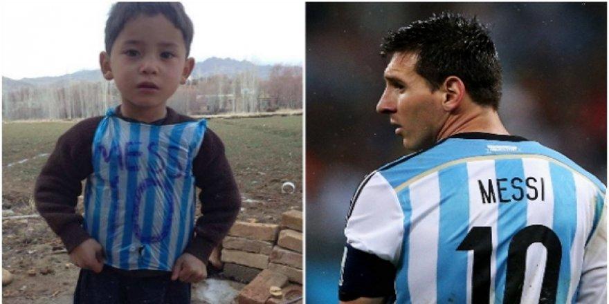 Büyük buluşma! Messi ve Afgan çocuk...