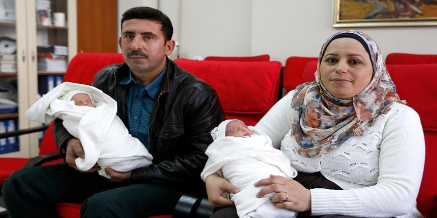 Çocukları olmayan Suriyeli çiftin Türkiye'de ikiz bebeği oldu