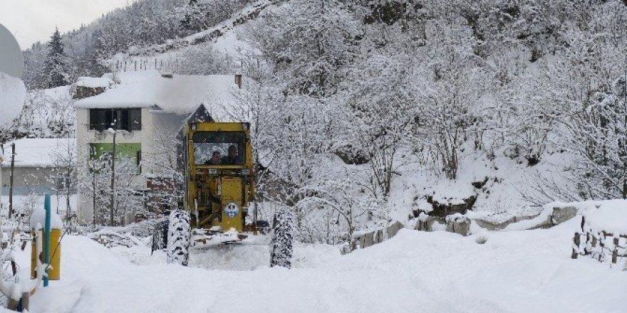 Trabzon'da 80 mahalle yolu kar nedeniyle ulaşıma kapalı