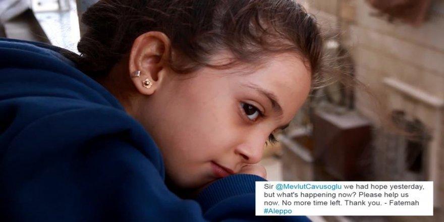 Halep'in küçük sesi Bana'dan Çavuşoğlu'na yardım çağrısı