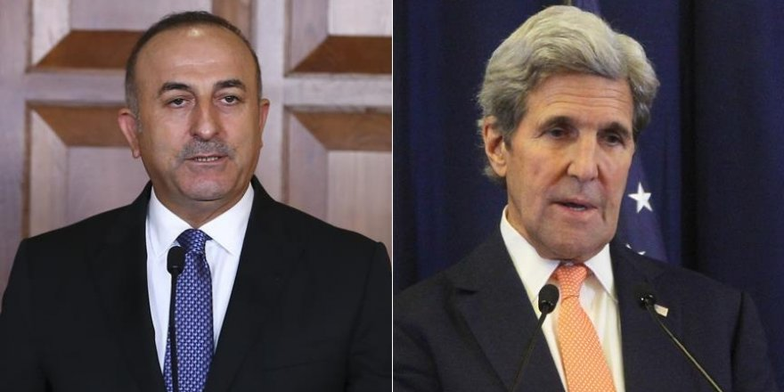 Çavuşoğlu ve Kerry Halep'i konuştu