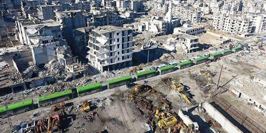 Halep'teki tahliye konvoyu yeniden hareket etti