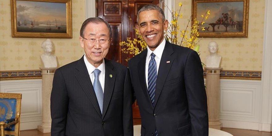 Obama'dan BM Genel Sekreteri Ban'a teşekkür