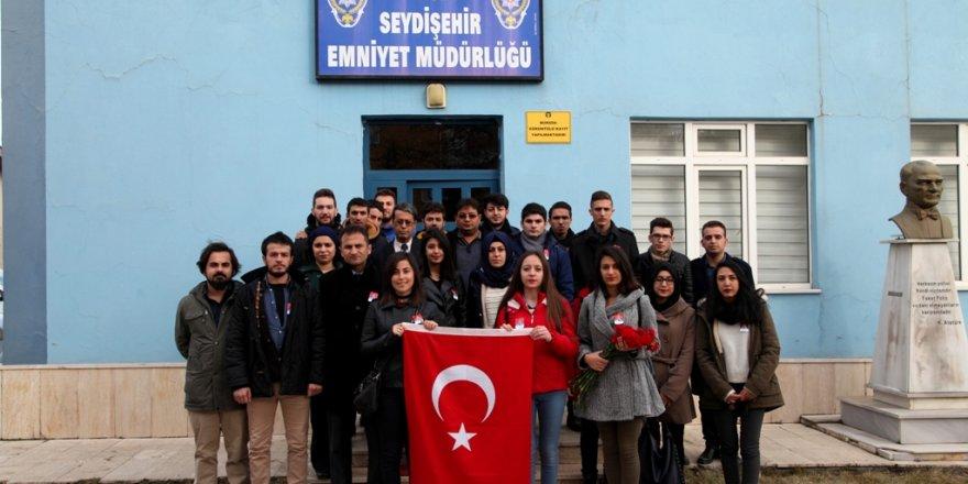 Seydişehir'de polislere moral ziyareti