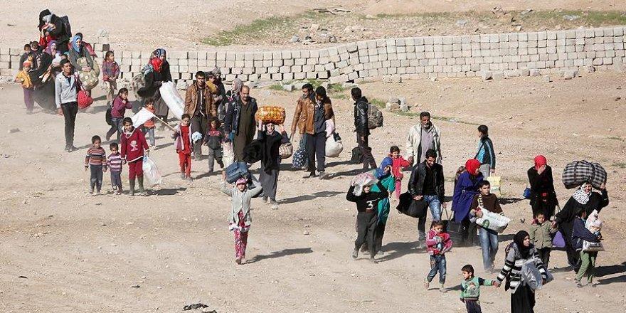 'Musul'da 100 bine yakın kişi yerinden oldu'