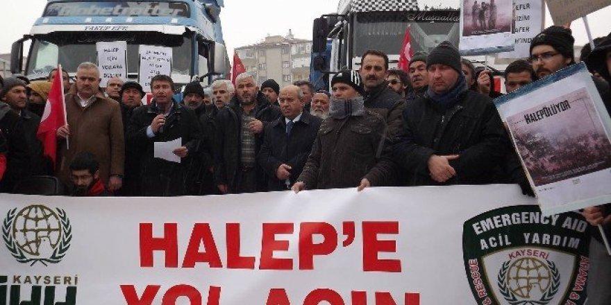 Niğde'den Halep'e 2 yardım TIR'I yola çıktı