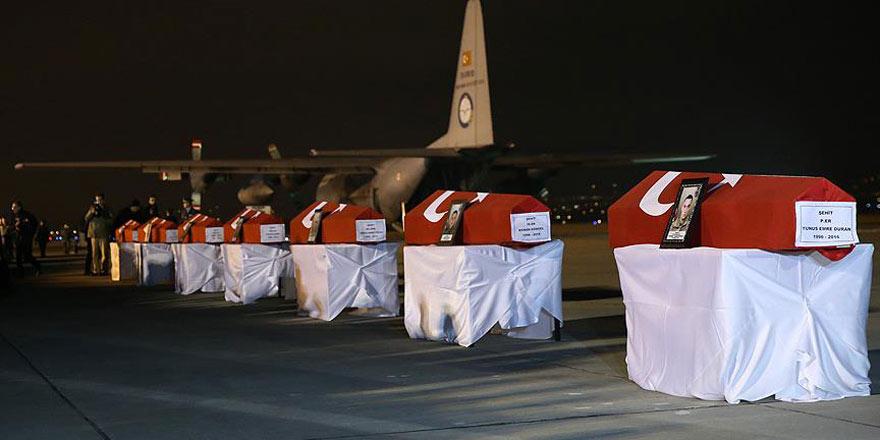 Terör saldırısında şehit olan 7 asker için tören