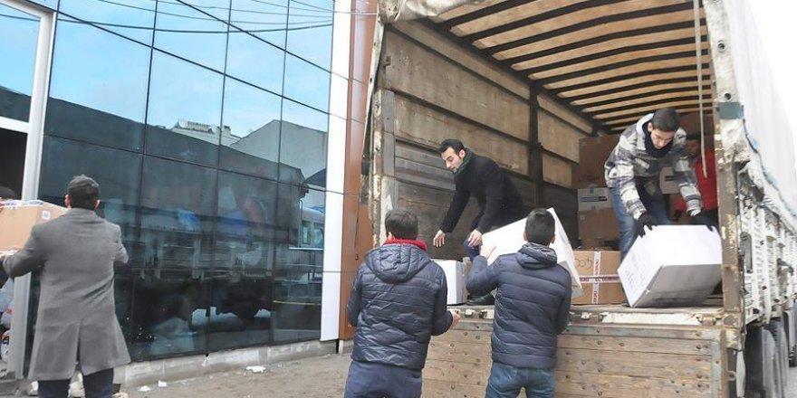 Sakarya'dan Halep'e yardım tırı
