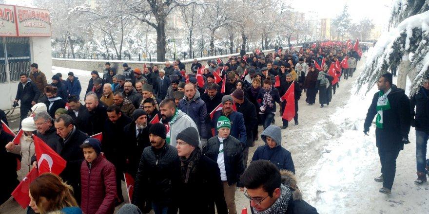 Kayseri'deki terör saldırısı Ereğli'de protesto edildi