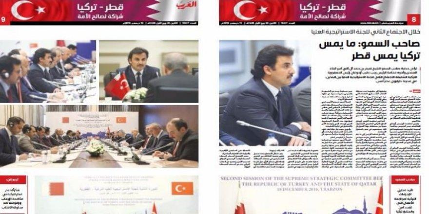 Katar basınından Türkiye'ye tam destek