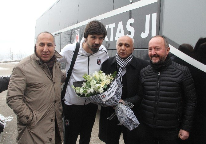 Beşiktaş kupa maçı için Bolu'ya geldi