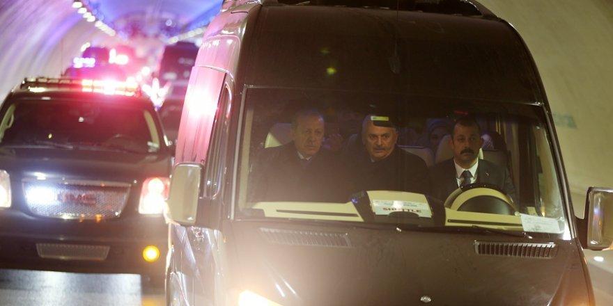 Erdoğan Avrasya Tüneli'den böyle geçti