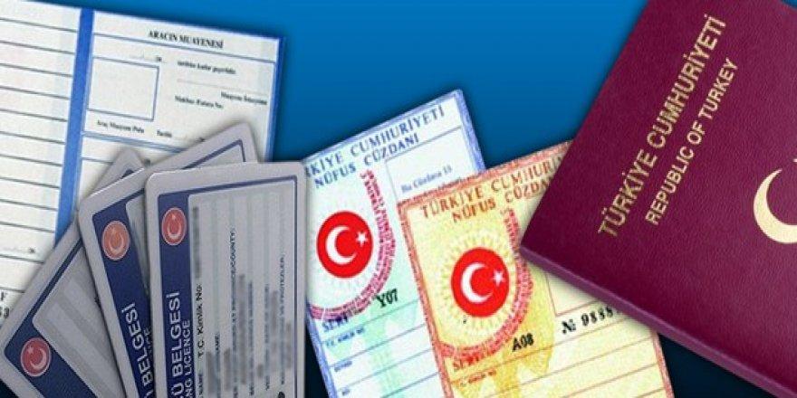 Nüfus cüzdanı, ehliyet ve pasaport fiyatlarına yeni yıl zammı
