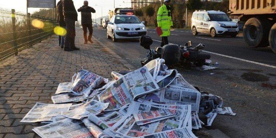 Gazete dağıtıcısı ölümden döndü