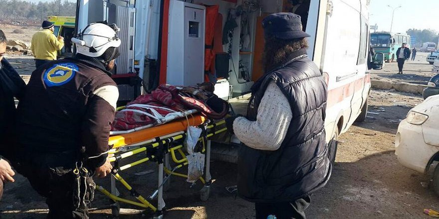 Yer altı hastanesindeki Halepliler de tahliye edildi