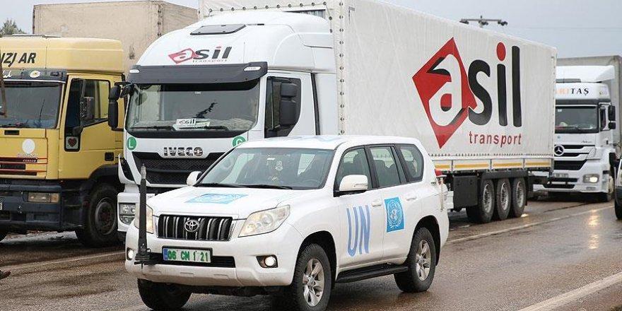 BM'nin yardım tırları Suriye'ye geçiş yaptı