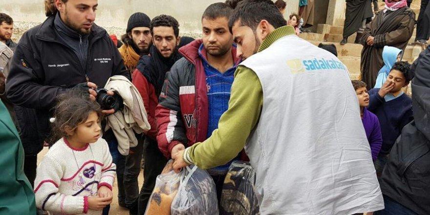 Halepli ailelere insani yardım
