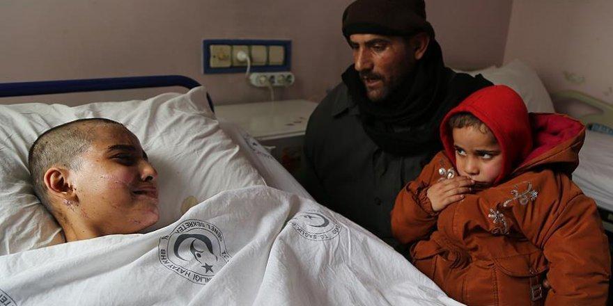 Halep'te kaybettiği babasına ve kardeşine kavuştu