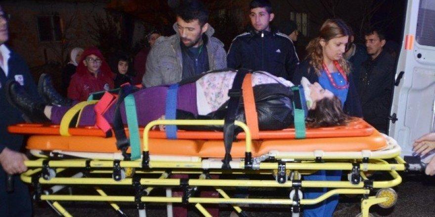 Minibüsün çarptığı yaya yaralandı