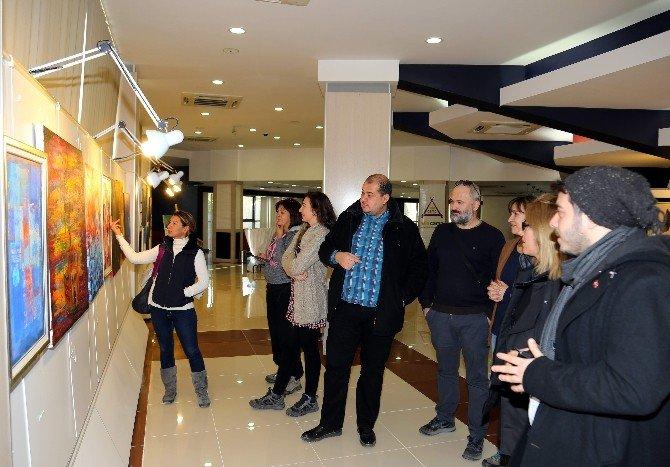 ADÜ'de uluslararası resim ve heykel sergisi düzenlendi