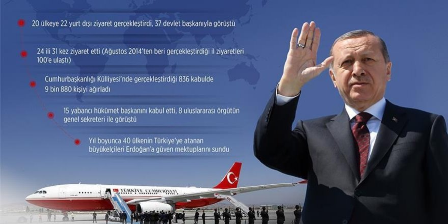 Cumhurbaşkanı Erdoğan 2016'da 20 ülkeyi ziyaret etti