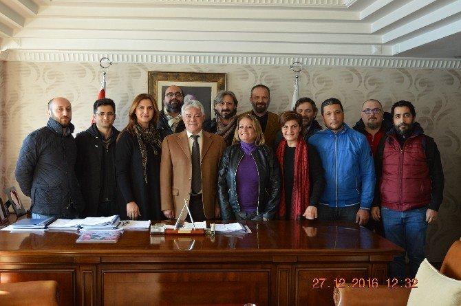 Başkan Acar gazetecilerle bir araya geldi