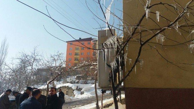 Hakkari'de ağaçlar buz tuttu