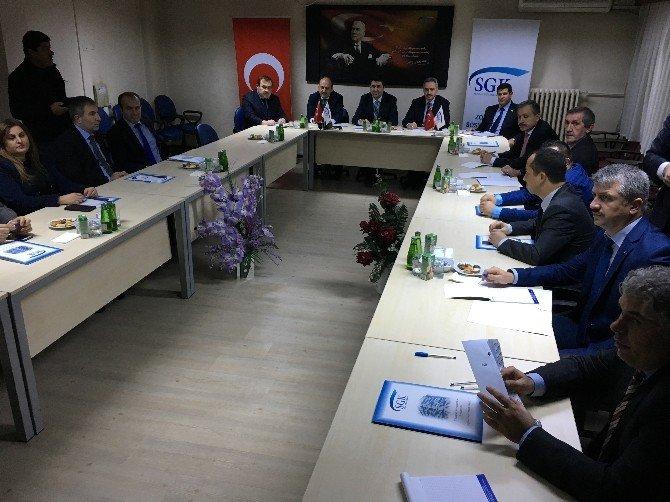 SGK İl Müdürlüğü bölge koordinasyon toplantısı yapıldı