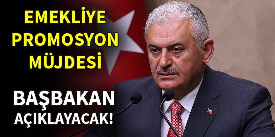Başbakan Yıldırım'dan emekliye promosyon müjdesi