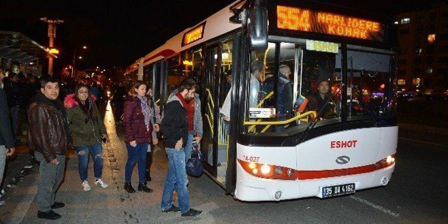 İzmir'de yılbaşı gecesine 'ulaşım' ayarı