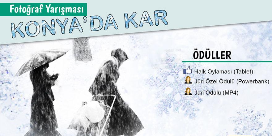 KOMEK'ten ödüllü 'Konya'da kar' fotoğraf yarışması