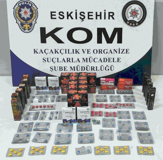 Eskişehir'de kaçak cinsel ürün operasyonu