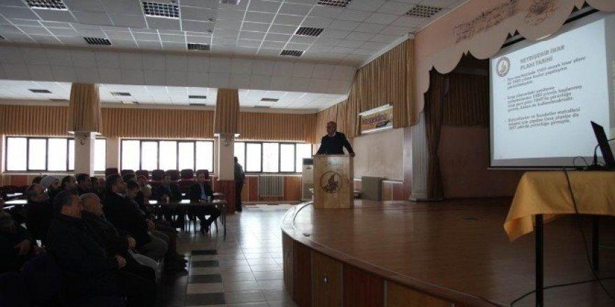 Seydişehir imar revizyonu bilgilendirme toplantısı yapıldı