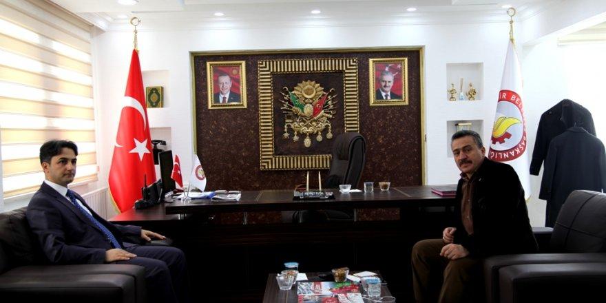Kaymakam Erdoğan'dan Başkan Tutal'a ziyaret