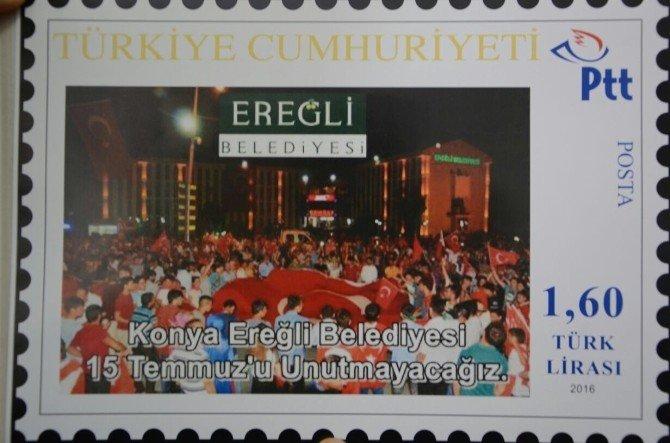 """Ereğli Belediyesi, """"15 Temmuz"""" temalı pullar kullanacak"""