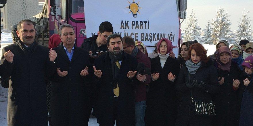 Konya'dan Haleplilere yardım