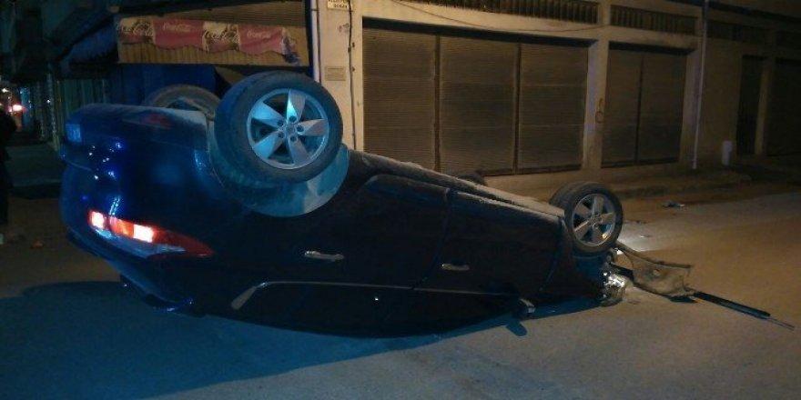 Takla atan otomobilin sürücüsü ortadan kayboldu