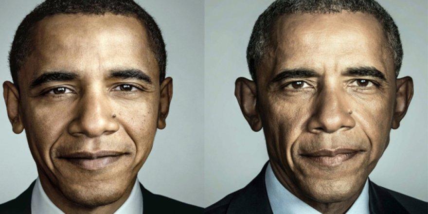 Obama'nın yaşadığı değişim yüzüne yansıdı