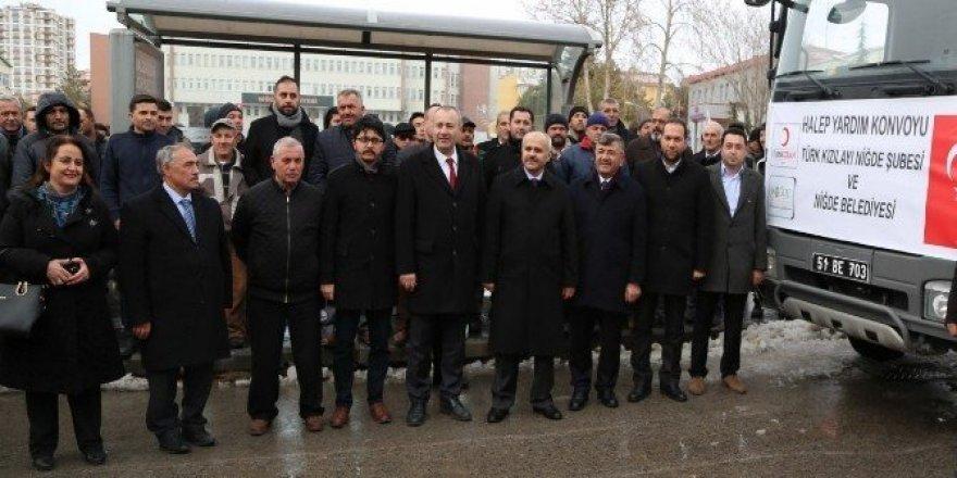 Niğde Belediyesi Halep'e 8 yardım TIR'ı gönderdi