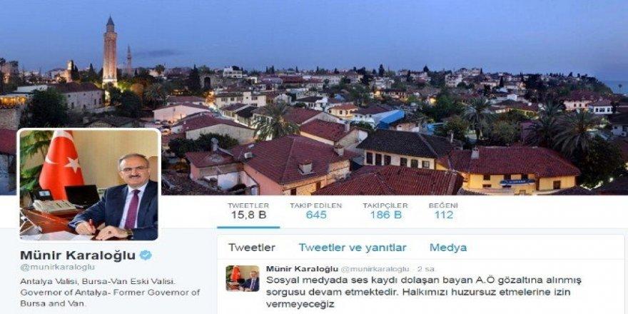 Antalya'da ses kaydını paylaşan kadın gözaltında