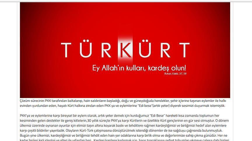 Kürt gençlerden 'birlik beraberlik' çağrısı