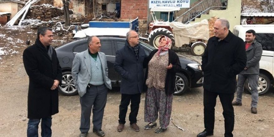 Başkan Kayda, karlı günde mahalleri ziyaret etti