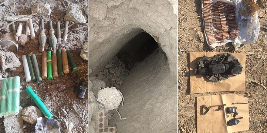 Evdeki tünelde roketatar ve mühimmat ele geçirildi