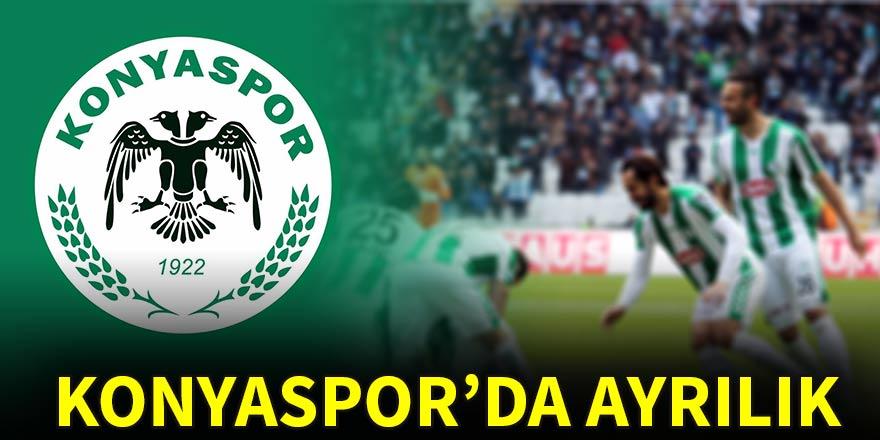 Konyaspor'da ayrılık!