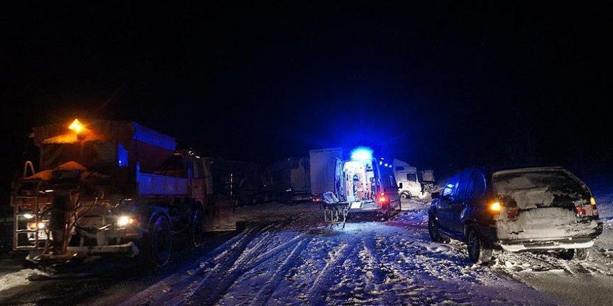Trafik kazası nedeniyle Edirne-İstanbul yönü kapandı